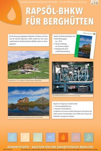 Abteilung 5: Rapsöl-BHKW für Berghütten