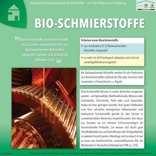Abteilung 7: Bioschmierstoffe